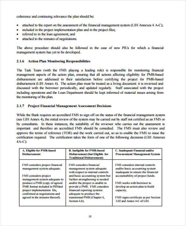 project financial management plan