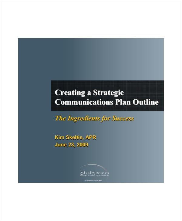 strategic communication plan outline1