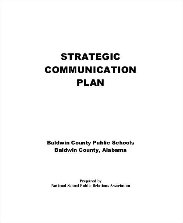 school strategic communication plan