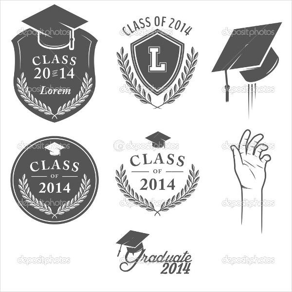 graduation-cap-label-template