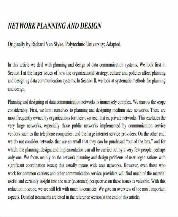 network design and implementation plan1