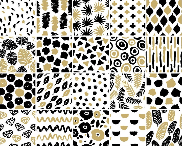 hand crafted seamless pattern