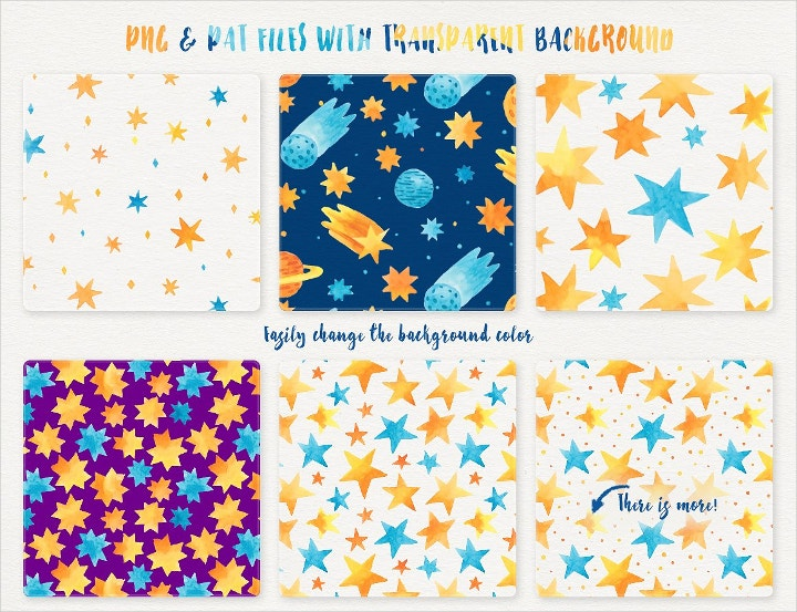 Starry Night Pattern Design