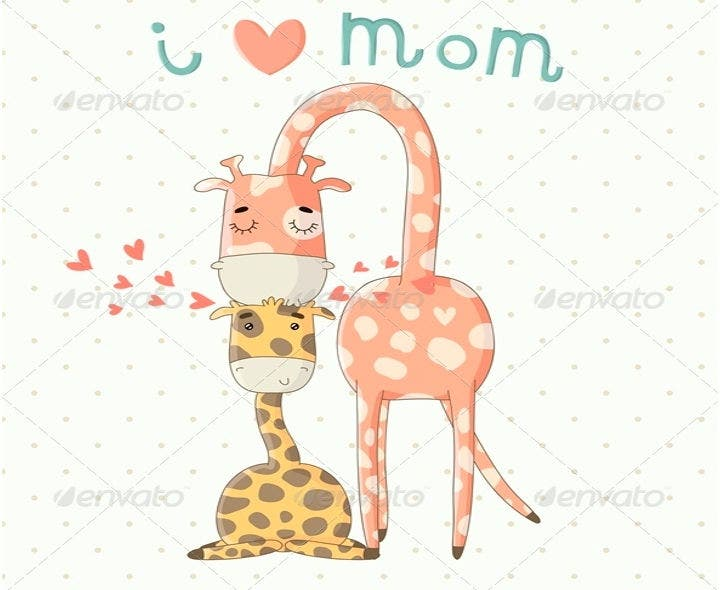 mother%e2%80%99s day cartoon illustration vectors2