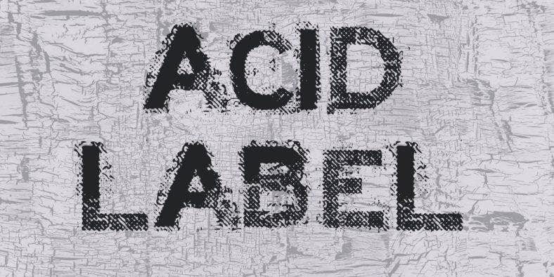 acid-label-font