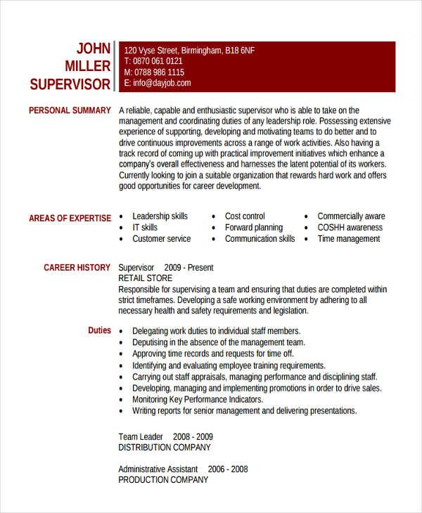 27+ Basic Work Resume Templates | Free & Premium Templates