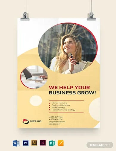 advertising consultant poster template