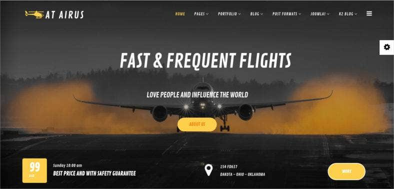 airline-joomla-template