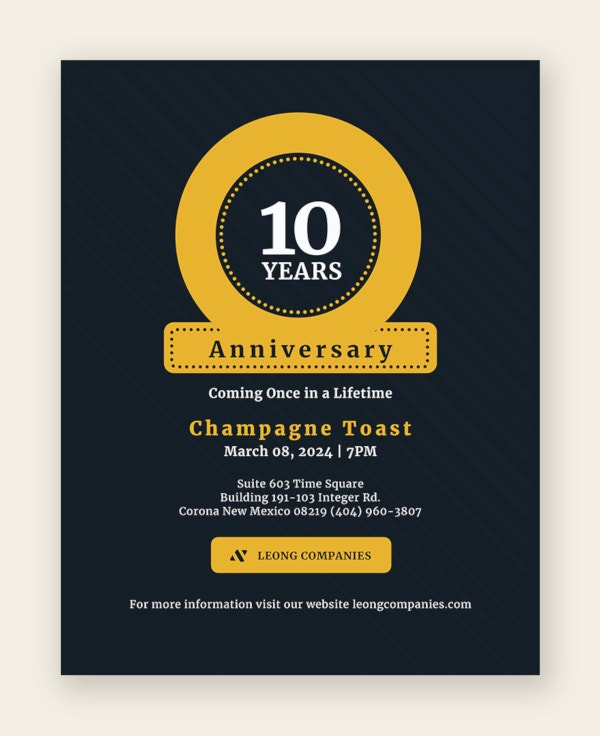 anniversary flyer template1