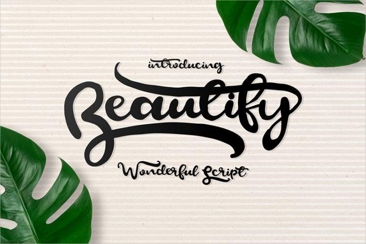 beautify script font11