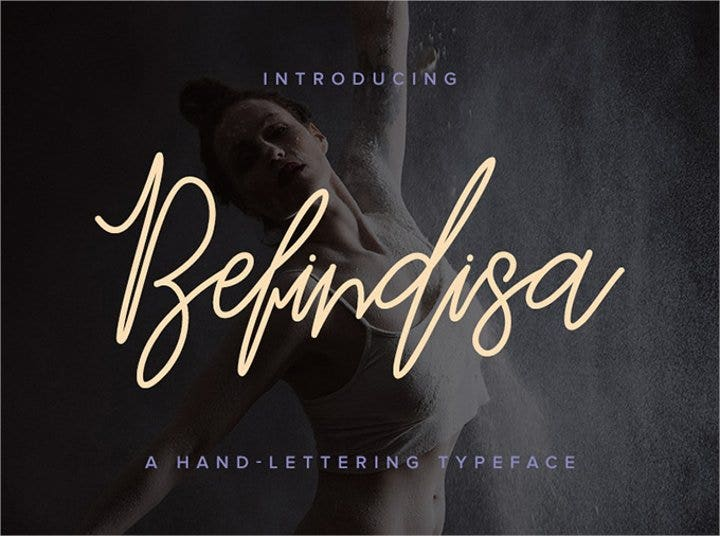 befindisa script font11