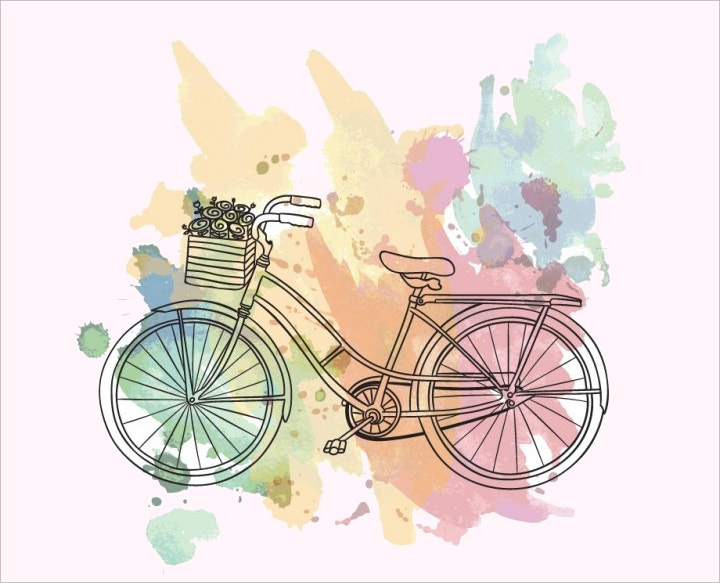 bicycle-watercolor-illustrations