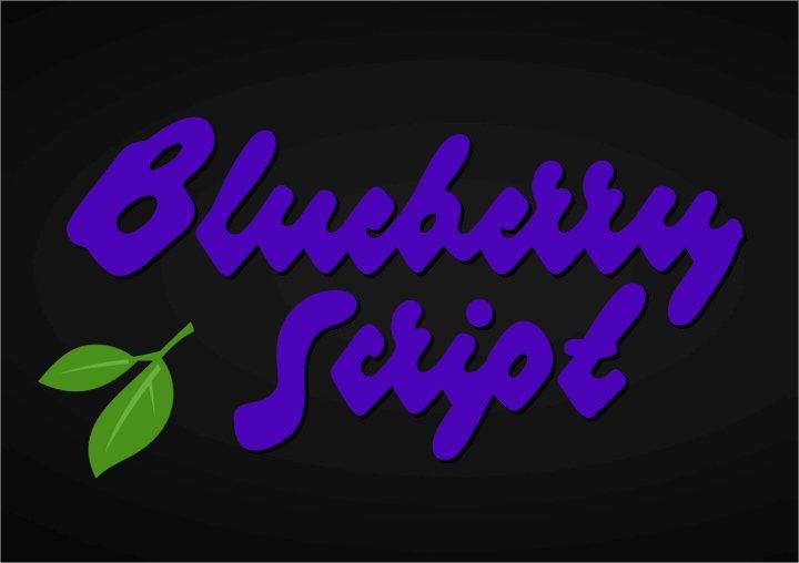 blueberry-script-font1