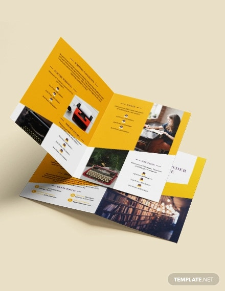 book store bi fold brochure template