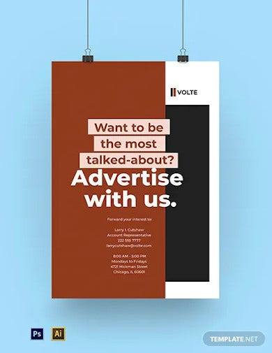 branding advertising agency poster template