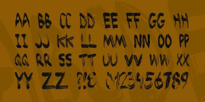 brushed-font