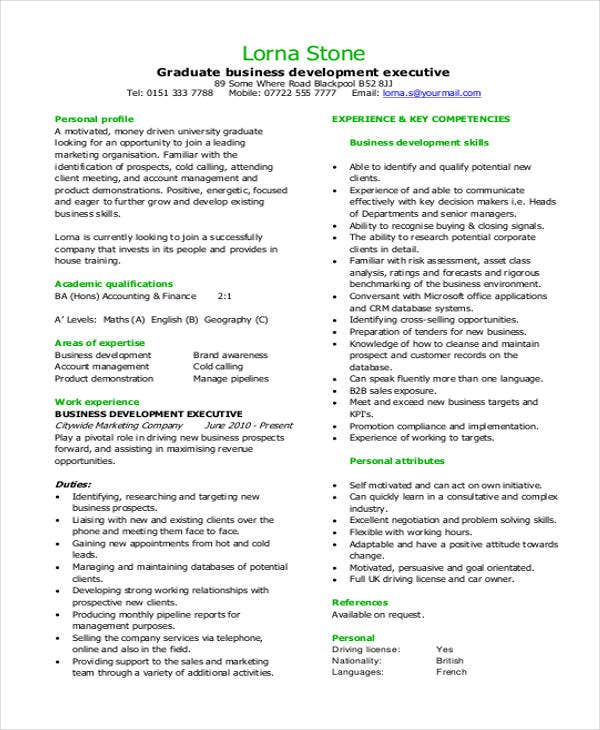 Best Business Resume   Free Word Pdf Document Download  Free