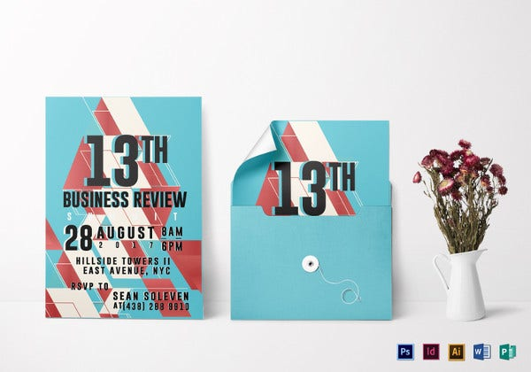 business review invitation template