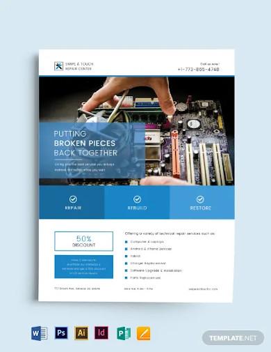 business tech flyer template