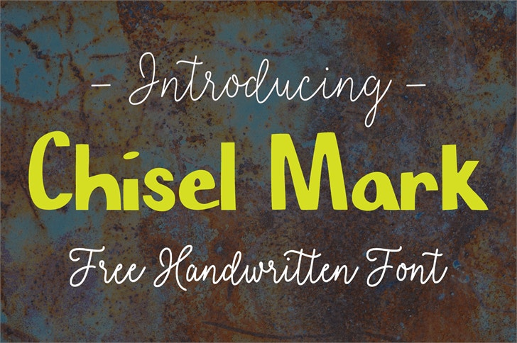 chisel-mark-font