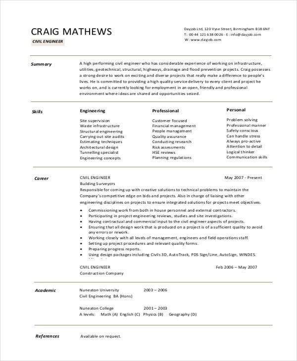13+ Simple Fresher Resume Templates - PDF, DOC | Free & Premium ...