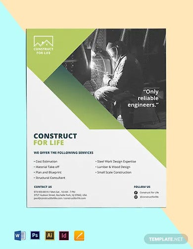 civil engineers flyer template