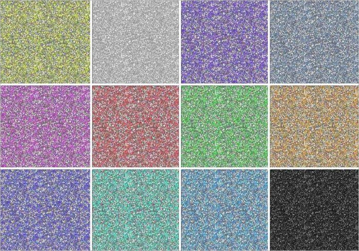 colourful glitter pattern