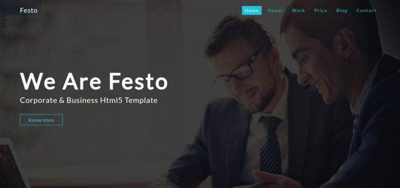 corporate bootstrap template 788x371