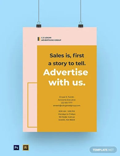 creative advertising agency poster template
