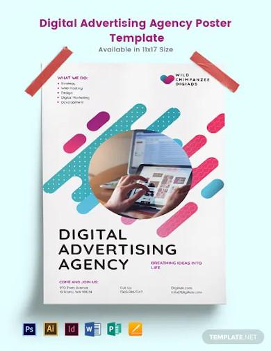 digital advertising agency poster template