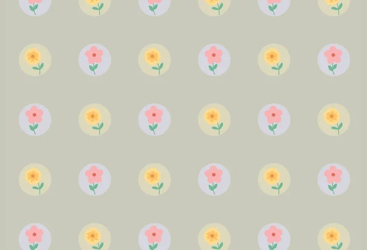 dotted-flower-pattern