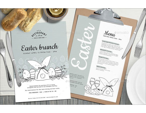 easter event menu template