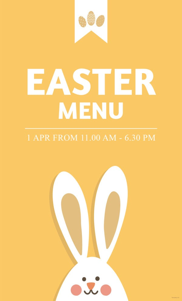 Easter Menu Card