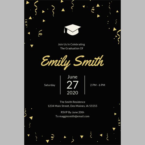 45 graduation invitation designs templates psd ai free