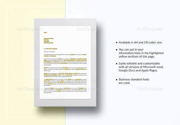 37+ Simple Recommendation Letter Template - Free Word, PDF Documents Download