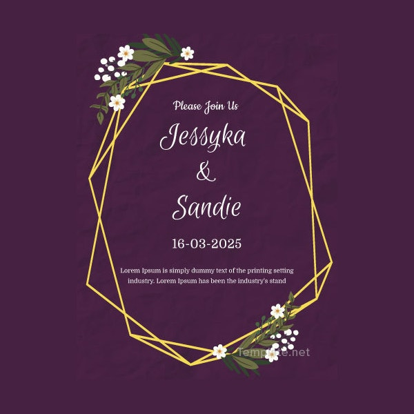 editable wedding thank you invitation template