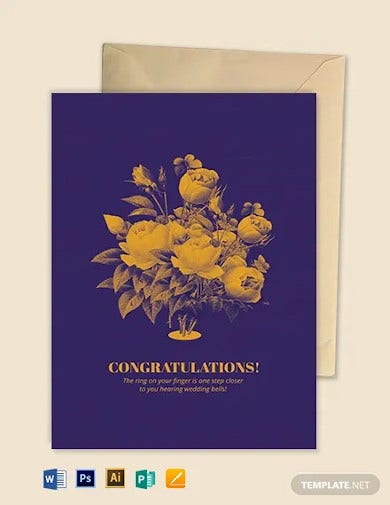 engagement greeting card template