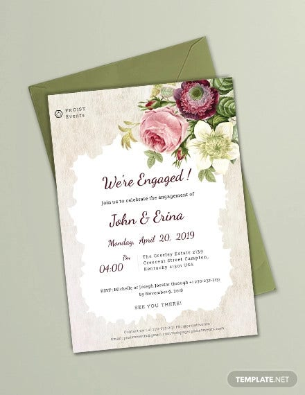 49+ Engagement Invitation Designs - PSD, AI, Vector EPS | Free ...