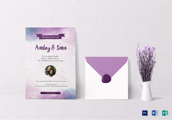 engagement party invitation card template1