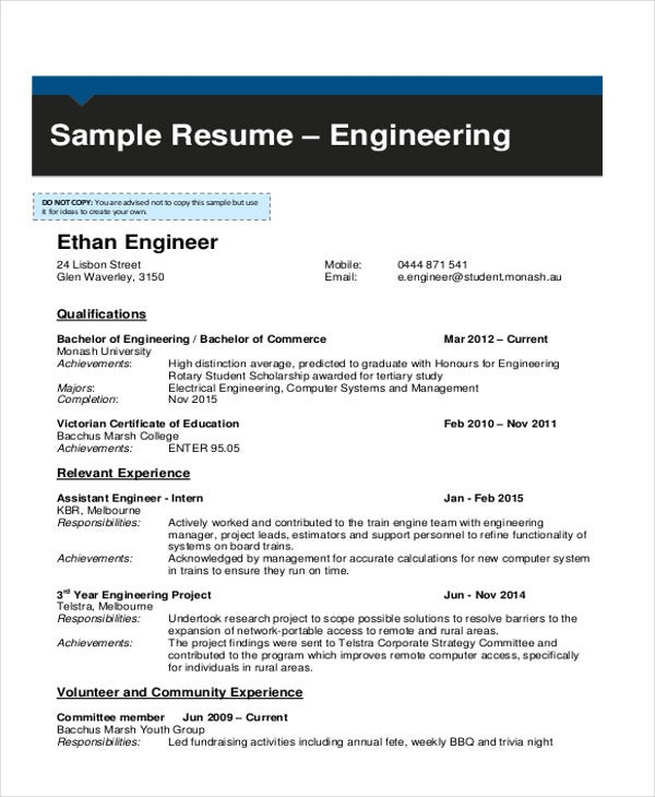 13 Simple Fresher Resume Templates Pdf Doc Free Premium