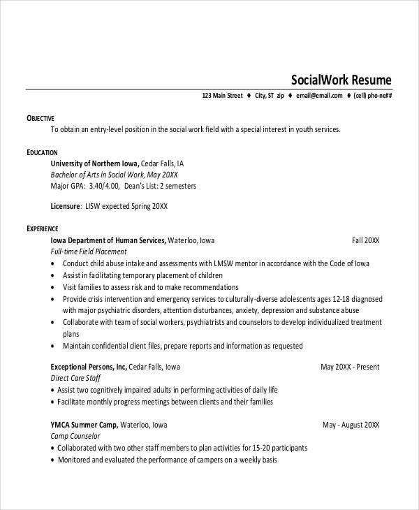 15 Printable Work Resume Templates Pdf Doc Free