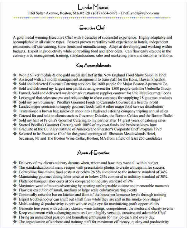 executive chef resume example1