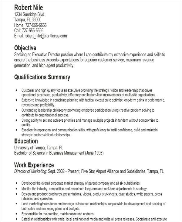 Modern Executive Resume Templates  Free  Premium Templates