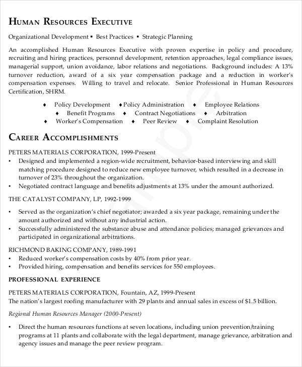 experienced hr executive resume4