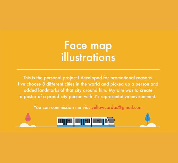 face map illustration