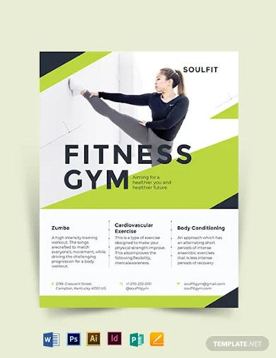 fitness gym flyer template2
