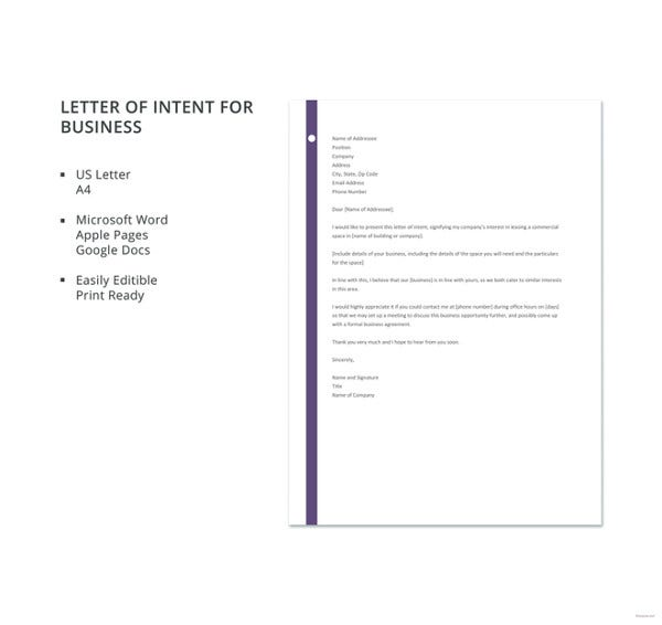 formal-letter-template-of-intent-for-business