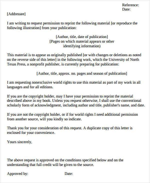 formal permission letter