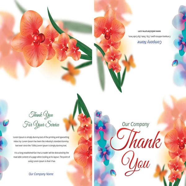 free bi fold thank you card template