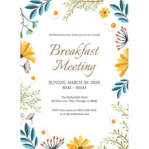 free-corporate-breakfast-invitation-template